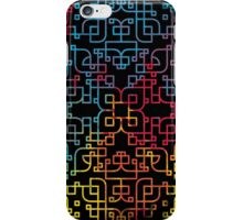 Curvy Angles in Black iPhone Case/Skin