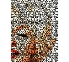 Marilyn Monroe - Sigh - Stone Rock'd Art By Sharon Cummings Photographic Print