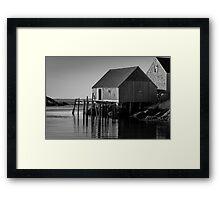 Fishing Village at Peggys Cove Nova Scotia Framed Print