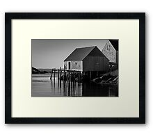 Fishing Village at Peggys Cove Nova Scotia Framed Print