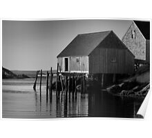 Fishing Village at Peggys Cove Nova Scotia Poster