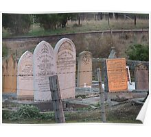 Morning Light on the Gravestones, Ross, Tas Poster