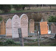 Morning Light on the Gravestones, Ross, Tas Photographic Print