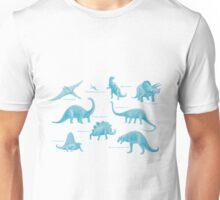Dinosaur montage - Blue Unisex T-Shirt