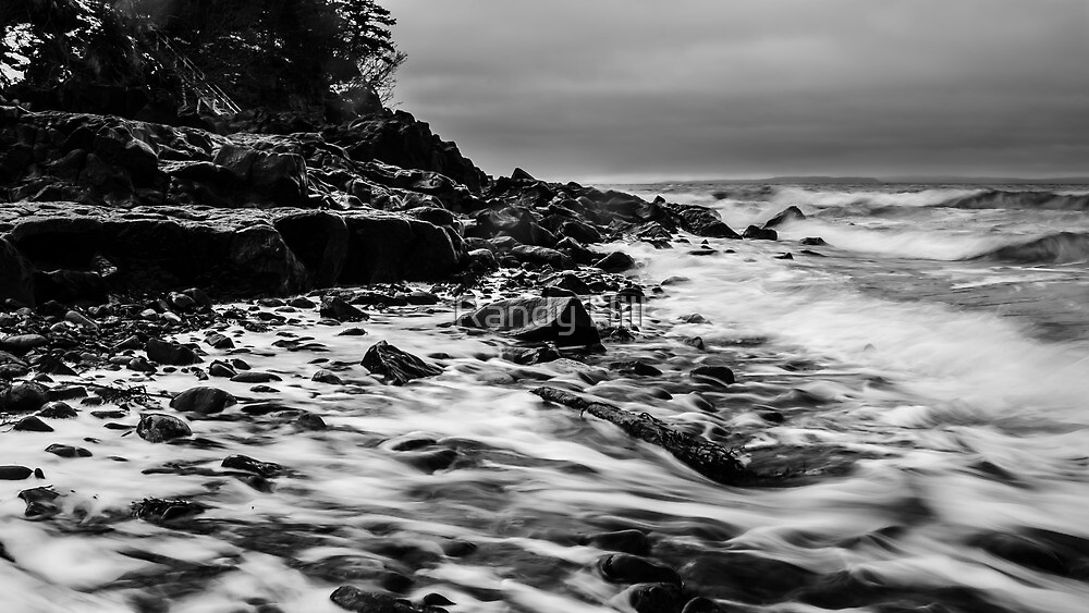 Receding Tide at Ross Creek Nova Scotia by Randy Hill