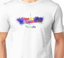 Toronto skyline in watercolor Unisex T-Shirt
