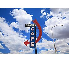 Route 66 - Grants Cafe Photographic Print
