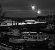 Delhaven Wharf, Nova Scotia Canada by Randy Hill