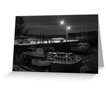 Delhaven Wharf, Nova Scotia Canada Greeting Card