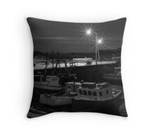 Delhaven Wharf, Nova Scotia Canada Throw Pillow