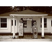 Route 66 - Soulsby Station Pumps Photographic Print