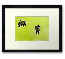 2 cows. Framed Print