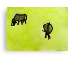 2 cows. Canvas Print