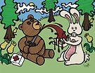 Teddy Bear And Bunny - Giving Blood by Brett Gilbert