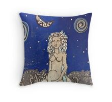 Water Maiden Throw Pillow