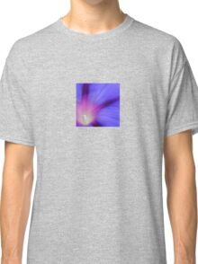 Macro of A Royal Purple Ipomoea Flower Classic T-Shirt