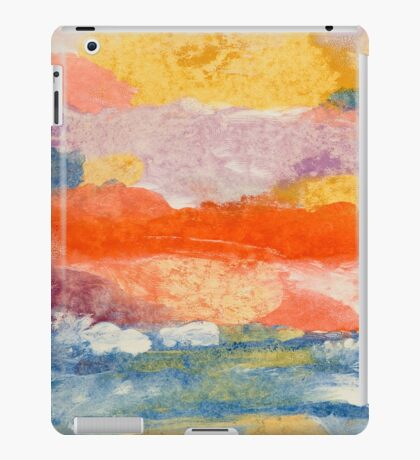 Abstract Sunset in the Sea iPad Case/Skin