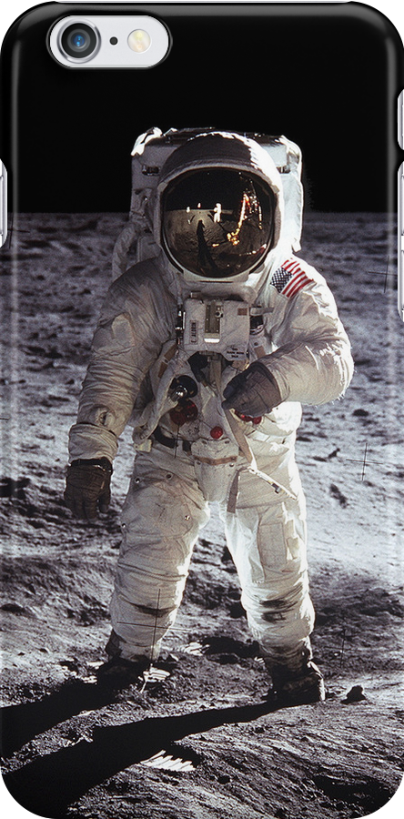 Buzz Aldrin on the Moon NASA iPhone/iPad Space Case by shifty303