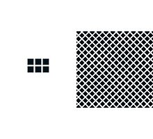 Number BLACK+white 6 Photographic Print