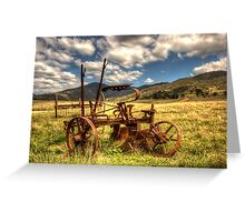 Out to Pasture , Still able to work,   Australia  Greeting Card