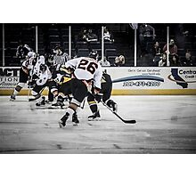 Battle for the goal Photographic Print