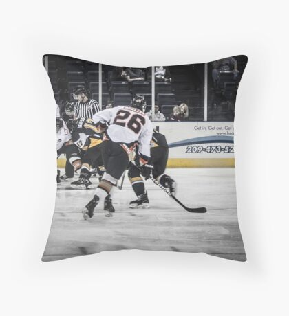 Battle for the goal Throw Pillow