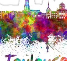 Toulouse skyline in watercolor Sticker