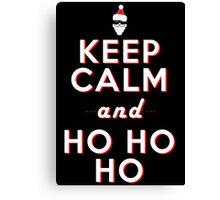 Keep calm Santa HO HO HO Canvas Print