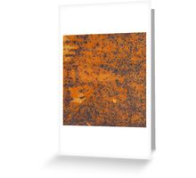 Orange rust texture - red rusty metal background Greeting Card