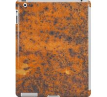 Orange rust texture - red rusty metal background iPad Case/Skin