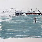 Where the Tug Boats Dock No.2 by ROSEMARY EAGLE