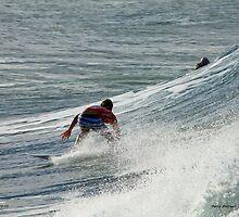 Pro surfer at Snapper rocks by Garry Andrews