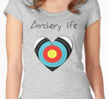 Archery life (heart 2) Women's Fitted Scoop T-Shirt