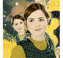 Clara Oswald and the Stars Photographic Print