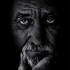 Portrait of old man by Balazs Kovacs