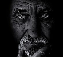Portrait of old man by Balazs Kovacs