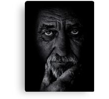 Portrait of old man Canvas Print