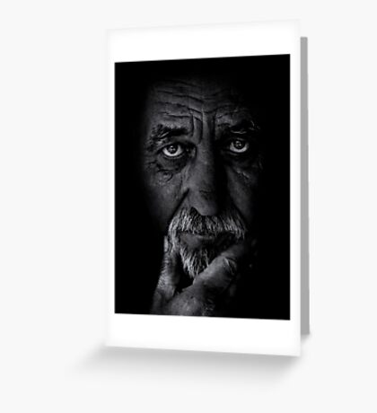 Portrait of old man Greeting Card