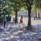 Walking near the Louvre, Paris by Terri Maddock