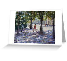 Walking near the Louvre, Paris Greeting Card