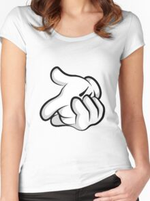 Mickey Mouse hands Women's Fitted Scoop T-Shirt