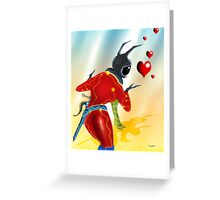 Electro Love Greeting Card