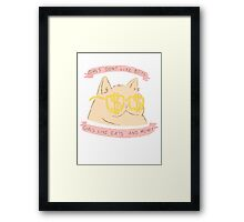 Cats and Money Framed Print