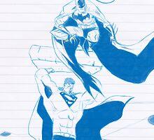 Batman & Superman by ayebloodyright