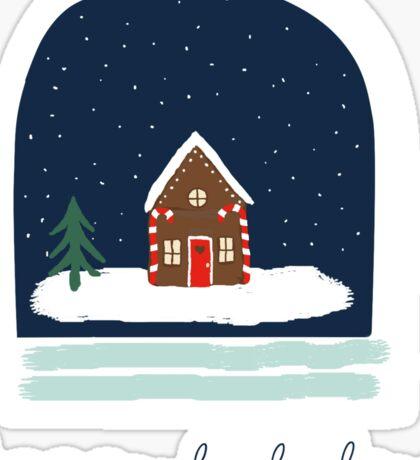 Happy Holidays Snowglobe Sticker