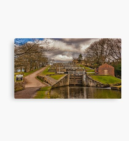 Bingley Five Rise Locks Canvas Print
