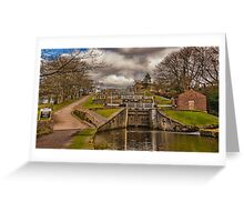 Bingley Five Rise Locks Greeting Card