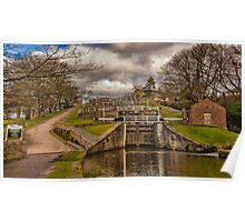 Bingley Five Rise Locks Poster