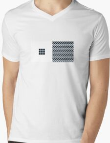 Number BLACK+white 9 Mens V-Neck T-Shirt