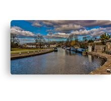 Leeds and Liverpool Canal at Bingley Canvas Print
